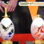 繊細なエッグアート 船 ランプ 花と花瓶 あだち三和子 スッキリ